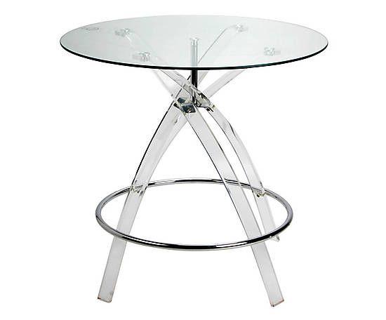 Tavolo in acrilico e vetro trasparente - 80x76x80 cm Dalani 169e