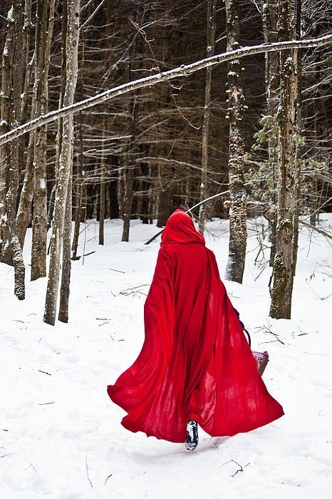 Little Red Riding Hood Canvas Print / Canvas Art by Trevor Slauenwhite