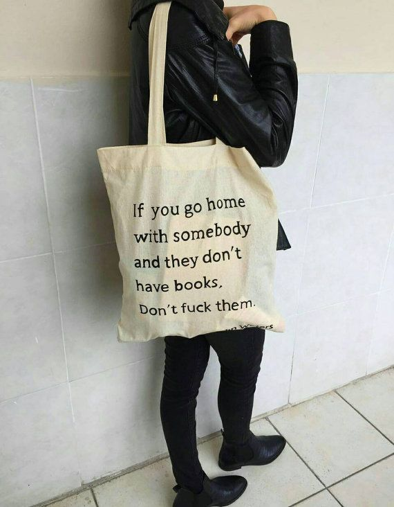 Water Quotes Handpainted John Waters Quote Totebag If You Gosolukworkshop .