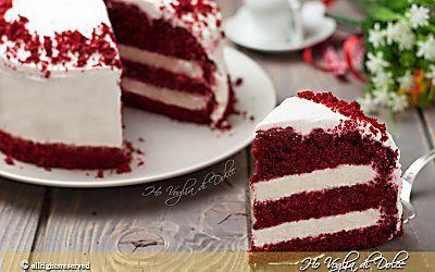 Torta Red Velvet , ricetta americana