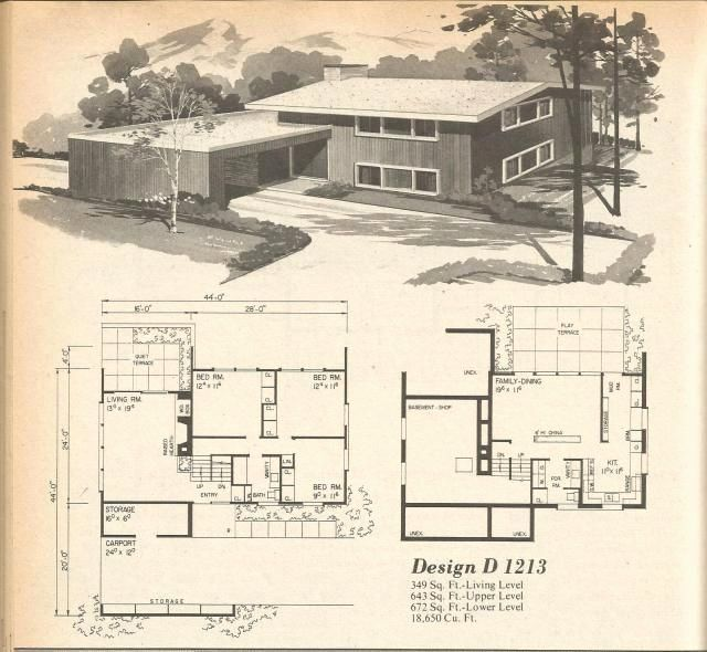 16 1970s Ranch House Plans In 2020 Vintage House Plans