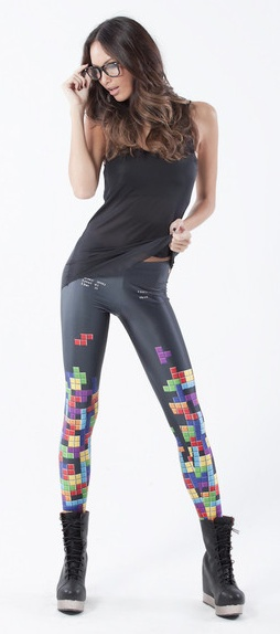 Crazy pants. Saw them live today and they look great! Love the tetris style.  found @blackmilkclothing.com
