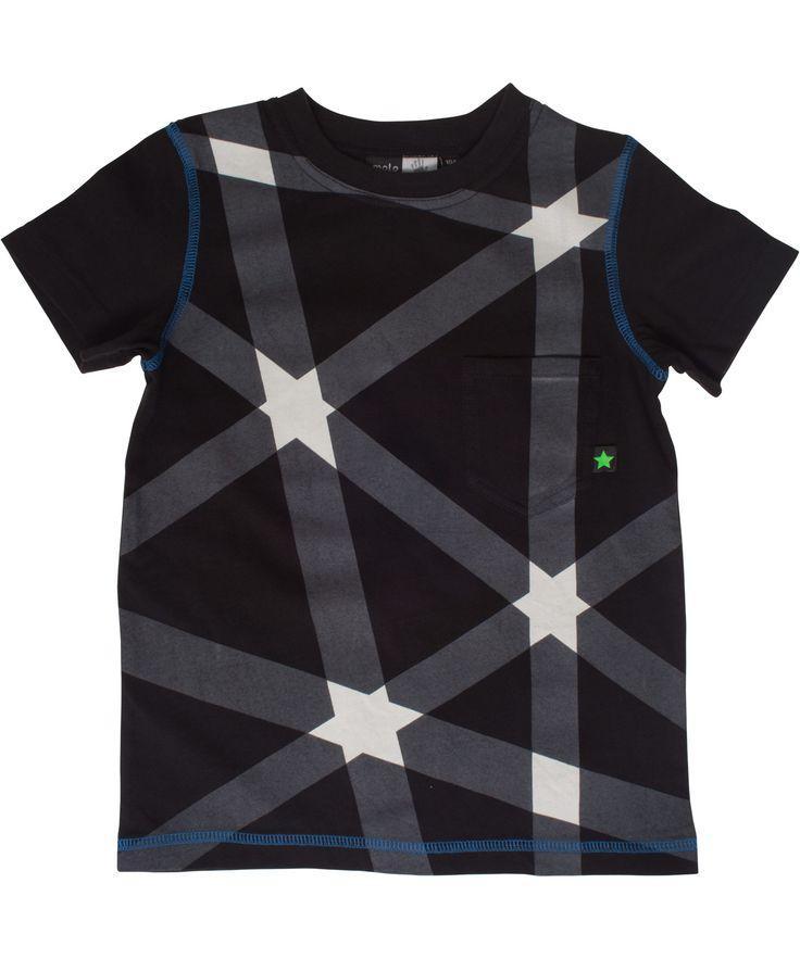 Molo zwarte t-shirt met sterrenprint. molo.nl.emilea.be