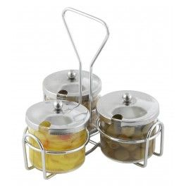 Buy Condiment Jar Holder, 3-Ring for $1.28 from CookingIdeal.• Chrome-plated rack.. Shop wholesale restaurant supplies at CookingIdeal, guarantee low price, fast shipping, and best service.