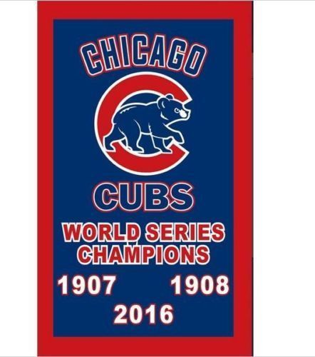 Chicago Cubs Flag 1907 1908 2016 MLB World Series Champions Win metal Grommets  #Unbranded