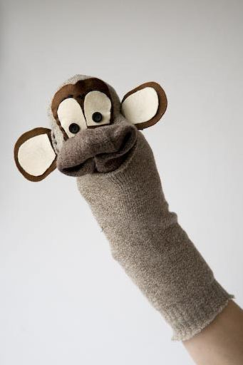 Monkey sock puppet
