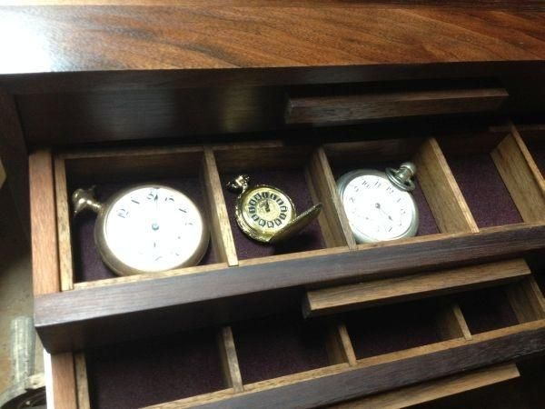 Pocket watch collection case - Woodworking creation by MSRiverdog