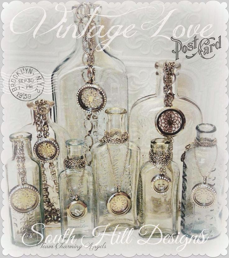 Vintage Love - South Hill Designs  Great display of lockets! www.southhilldesigns.com/AbbiFritz