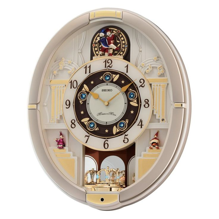 Seiko Gold Melodies In Motion Wall Clock - QXM290SRH