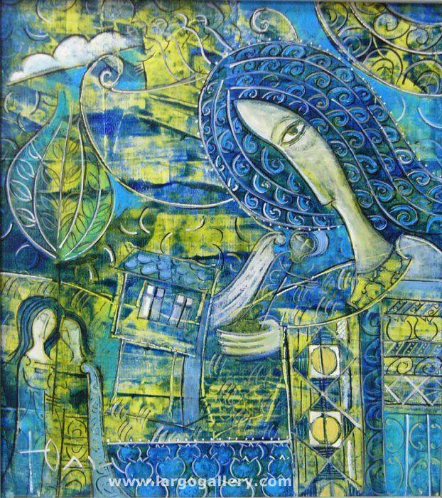 """Yuli Shumarev, """"A Little Night Tale"""", oil, canvas http://www.largogallery.com/"""