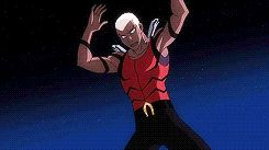Aqualad - young justice ...  I'd like to put his water bending skills to the test hehe lol