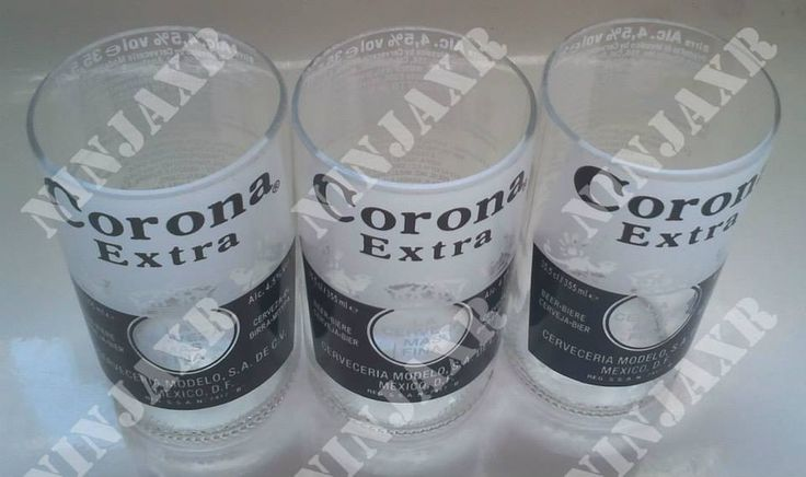 Tumbler creati da bottiglie di Birra Corona