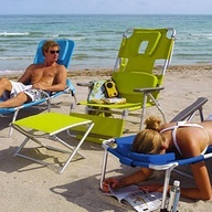 beach chair where you can still read while tanning  I would like to have one of these for sleeping when my neck hurts. It would be like falling asleep on the massage table.