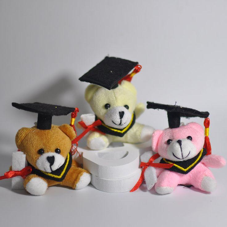 """Bulk Cartoon 2.4"""" Teddy Bear Graduation Bear Plush Joint Doctor Bear Pendants Toys For Key/Phone/Bag 4Color To Choose"""