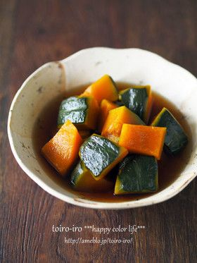 お弁当にも♪レンジde簡単かぼちゃの煮物