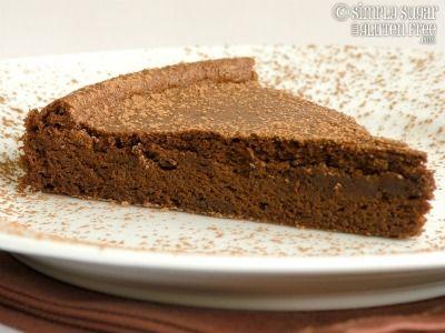 Recipe for Gluten Free, Sugar Free Flourless Chocolate Torte Recipe - Moist and Light