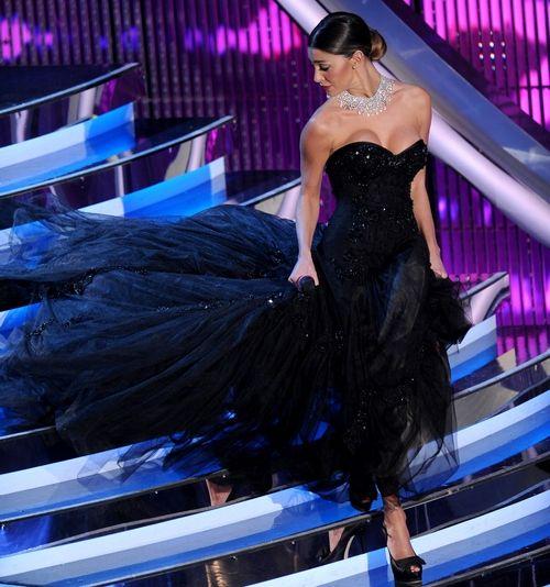 Sanremo 2012 Belen Rodriguez, Alberta Ferretti
