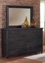 Aspirations Dresser Mirror In Coffee Bean Salvaged Wood Rustic Look By Vaughan Bassett Furniture Companies