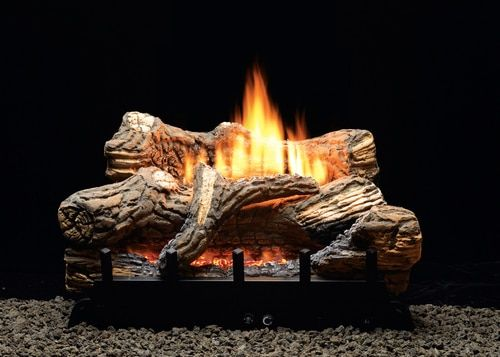 White Mountain Hearth Flint Hill Vented Vent Free Gas Log Set