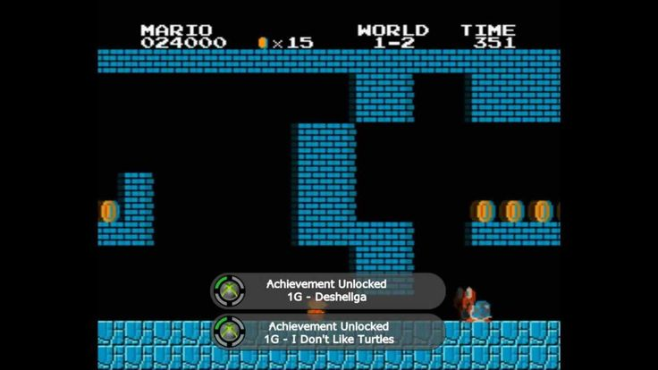 Play Super Mario Bros. with achievements for an added challenge... and lots, LOTS of references!