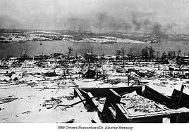 Today in History-The Halifax explosion occurred on December 6, 1917, when the city of Halifax in Nova Scotia, Canada, was devastated by the detonation of the SS Mont-Blanc, a French cargo ship that was fully loaded with wartime explosives