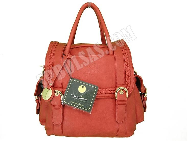 Bolsas Macadâmia | Bolsas Feminina Macadâmia MCB02026 Vermelha  Parcele em até 10X Sem Juros ou compre com super desconto no Atacado. Veja este modelo em nossa loja virtual:  http://www.spbolsas.com.br/bolsas-femininas/bolsas-macadamia.html