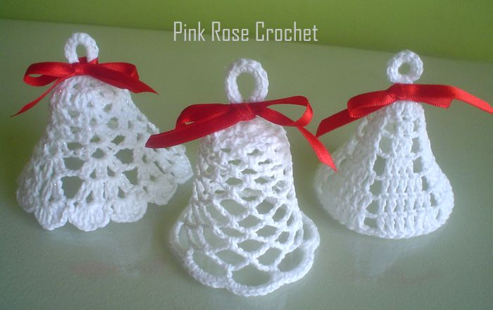 PINK ROSE CROCHET: Sinos de Crochê para o Natal