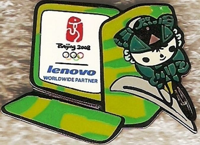 2008 Beijing Lenovo Road Cycling Olympic Mascot Sports Pin   | eBay