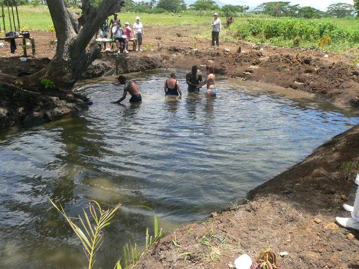 Wash the stress away. (Fiji Natural Thermal Mud Pool shore excursion - Port Denarau, Fiji Islands) #Mud