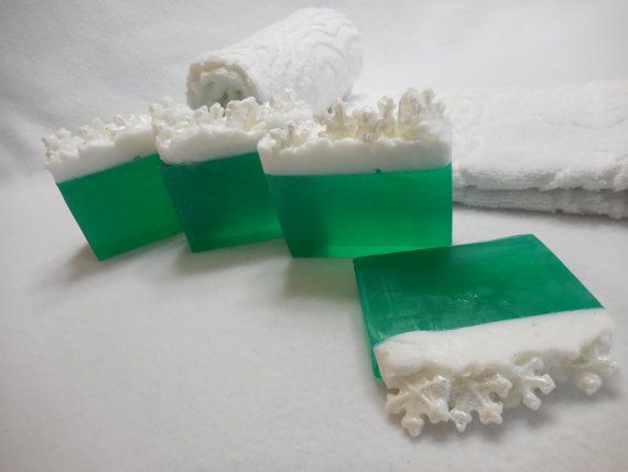 Snowflake SOAP LOAF Christmas Soap Glycerin Soap