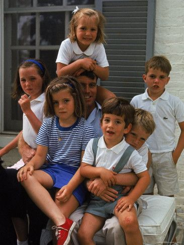 Robert Kennedy With His Children and Niece Caroline and Nephew, John Jr..After JFK's Tragic Assassination, RFK Took A Strong Fatherly Role In the Lives of His Fatherless Niece & Nephew...Sadly, They Had His Guidance For Less Than Five Years Until He Met The Sad, Sad Fate...America's, and These Precious Childrens' Great Losses...