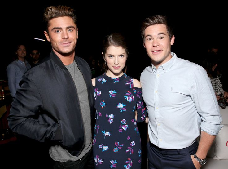 Zac Efron, Anna Kendrick & Adam Devine from CinemaCon 2016: Star Sightings  Get ready for some raunchy fun with these three in Mike and Dave Need Wedding Dates.
