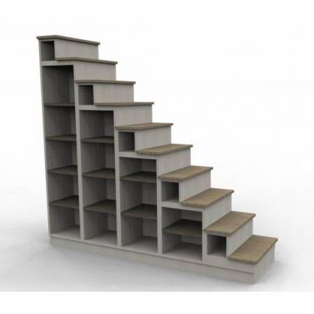 Biblioth que escalier pour mezzanine id es chambre enfant pintere - Escalier mezzanine rangement ...