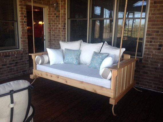 Porch Swing: The Daniel Island Swing Bed by LowcountrySwingBeds