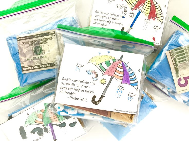 April Blessing Bags with Free Printable I Can Teach My