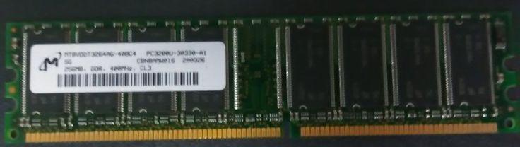256MB Micron MT8VDDT3264AG-40BG4 PC3200 400MHz DDR Non-ECC 184-P Memory Module