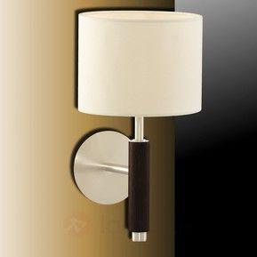Piękna lampa ścienna Nevada orzech włoski