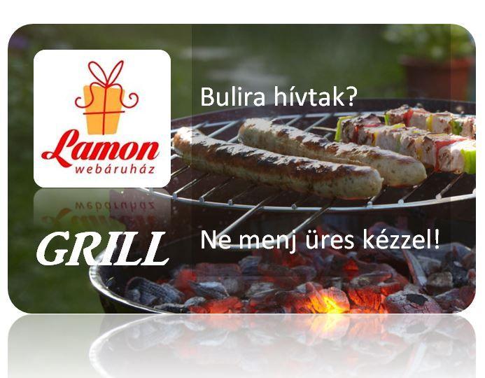 Ha Grill party, akkor is LAMON http://www.ajandek.shop.hu/
