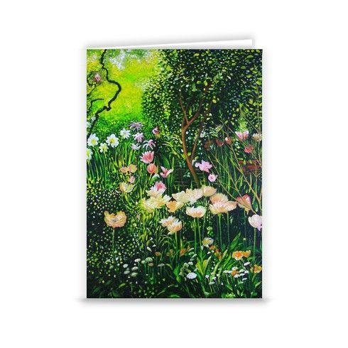 Spring Tulip Flowers  Greeting Card by simon-knott-fine-artist at zippi.co.uk