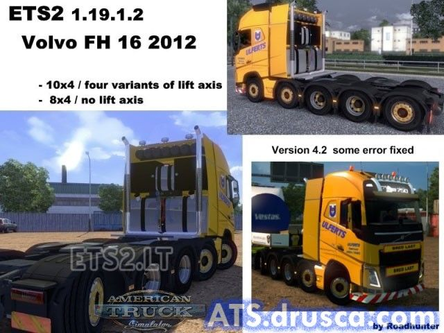 Volvo FH 2012 10×4 und 8×4 Ulferts v 4.2