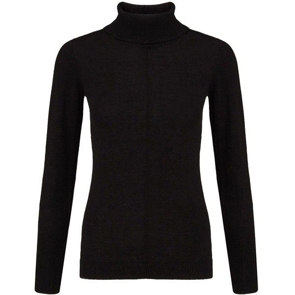 East Cotton Polo Neck Jumper ($74) ❤ liked on Polyvore featuring tops, sweaters, black, women, turtleneck tops, polo neck sweater, turtleneck sweater, black cotton sweater and black sweater
