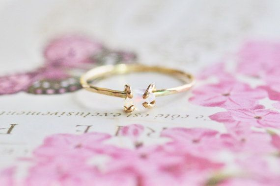 Dainty 14k Gold filled Raw Opal Ring! Raw opal is so incredibly beautiful in its natural state!