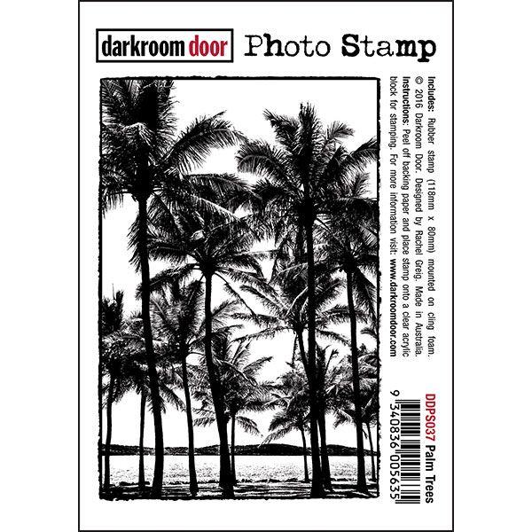 Darkroom Door Photo Stamp - Palm Trees