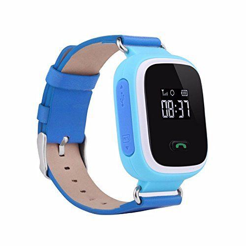 Auphi GPS Tracker Smart Wrist Watch Anti-lost Children Location Finder SOS Call Watch for Kids(blue)   It's really a great choice for your kids to learn the time and realize the sense of time.And let you monitor the location of your kids,let your kids kee