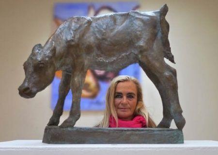 Miina Äkkijyrkkä, Finnish artist and protector of Finncattle, native Finnish dairy breed