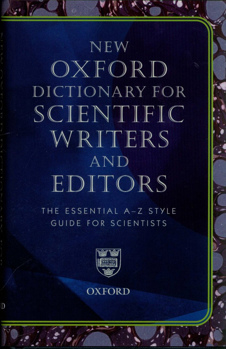 New Oxford dictionary for scientific writers and editors   #biblioteques_UVEG