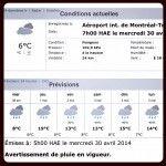 Météo des prochains jours. #déprimant #meteo #weather #montreal #quebec #printemps #spring