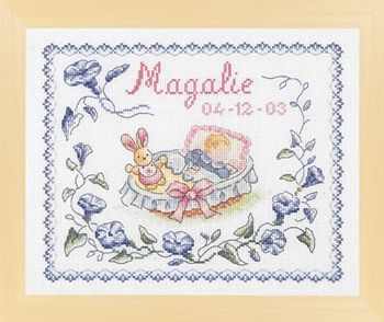 Baby Sampler pattern, free from DMC
