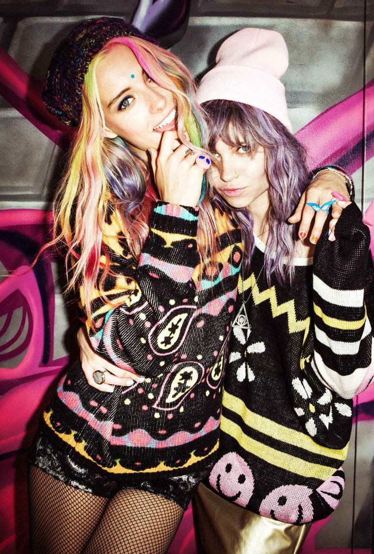 Chloe Norgaard & Daveigh Chase multi color outfits HD