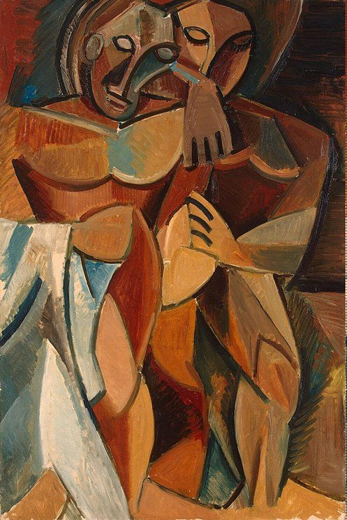 Friendship (1908 | Pablo Picasso | Oil on canvas |  The Hermitage, St. Petersburg, Russia.